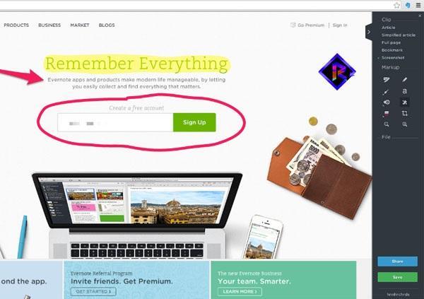 ابزارهای نشانهگذاری وب کلیپر در اورنوت